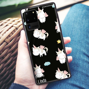Baby Cute Unicorn Samsung Glass Case