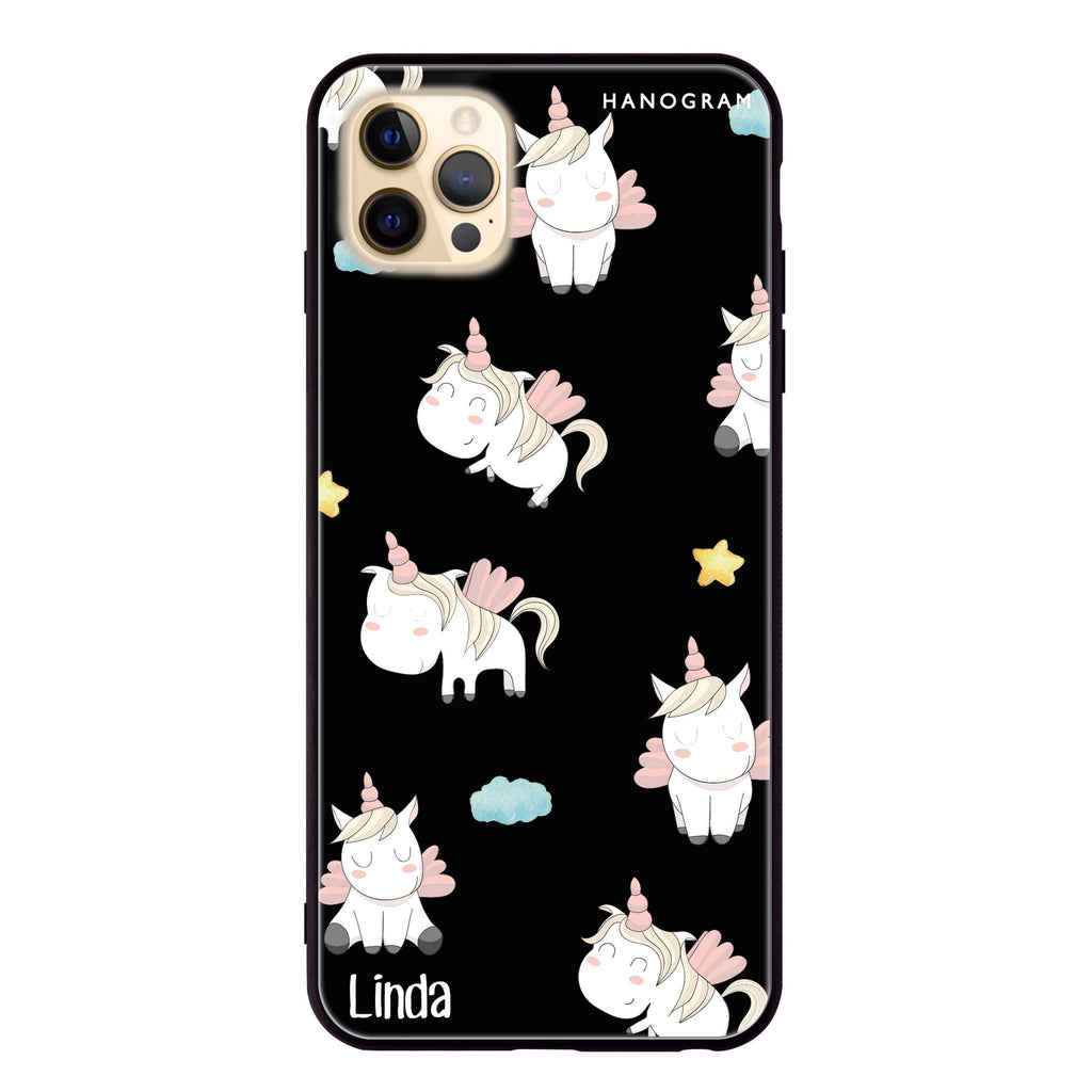 Baby Cute Unicorn Glass Case