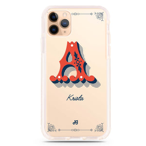 Vintage Ornamental Monogram iPhone 11 Pro Max Frosted Bumper Case