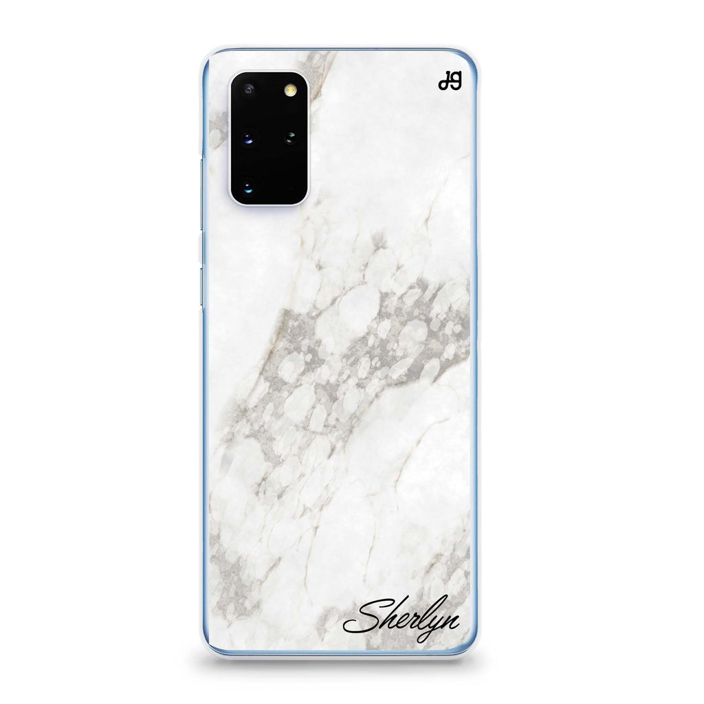 Simple White Marble Samsung S20 Soft Clear Case