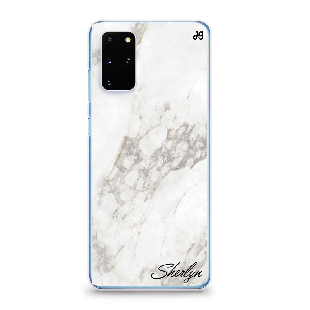 Simple White Marble Samsung S20 Plus Soft Clear Case