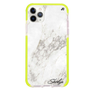 Simple White Marble Frosted Bumper Case