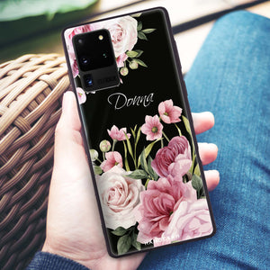 Beautiful Flowers Samsung Glass Case