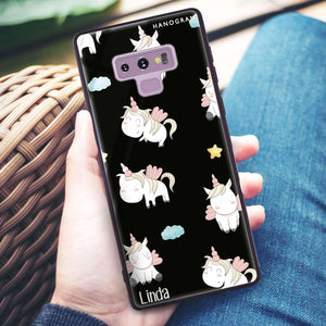 Baby Cute Unicorn Samsung Note 9 Glass Case