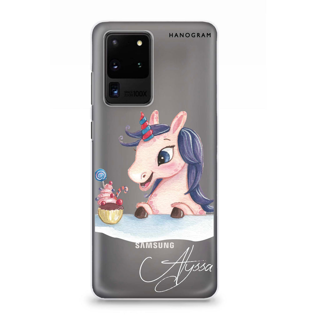 Rainbow Unicorn And Cupcake Samsung S20 Ultra Soft Clear Case
