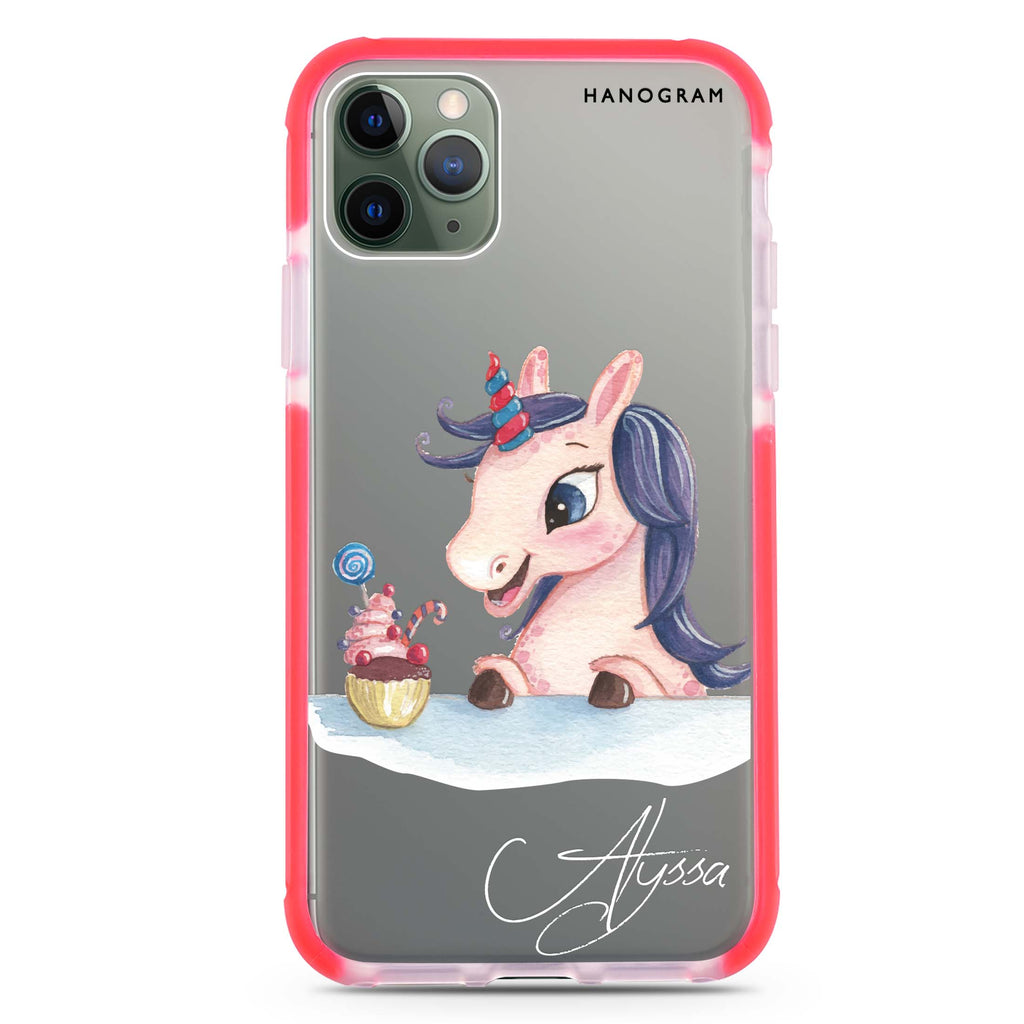 Rainbow Unicorn And Cupcake Shockproof Bumper Case