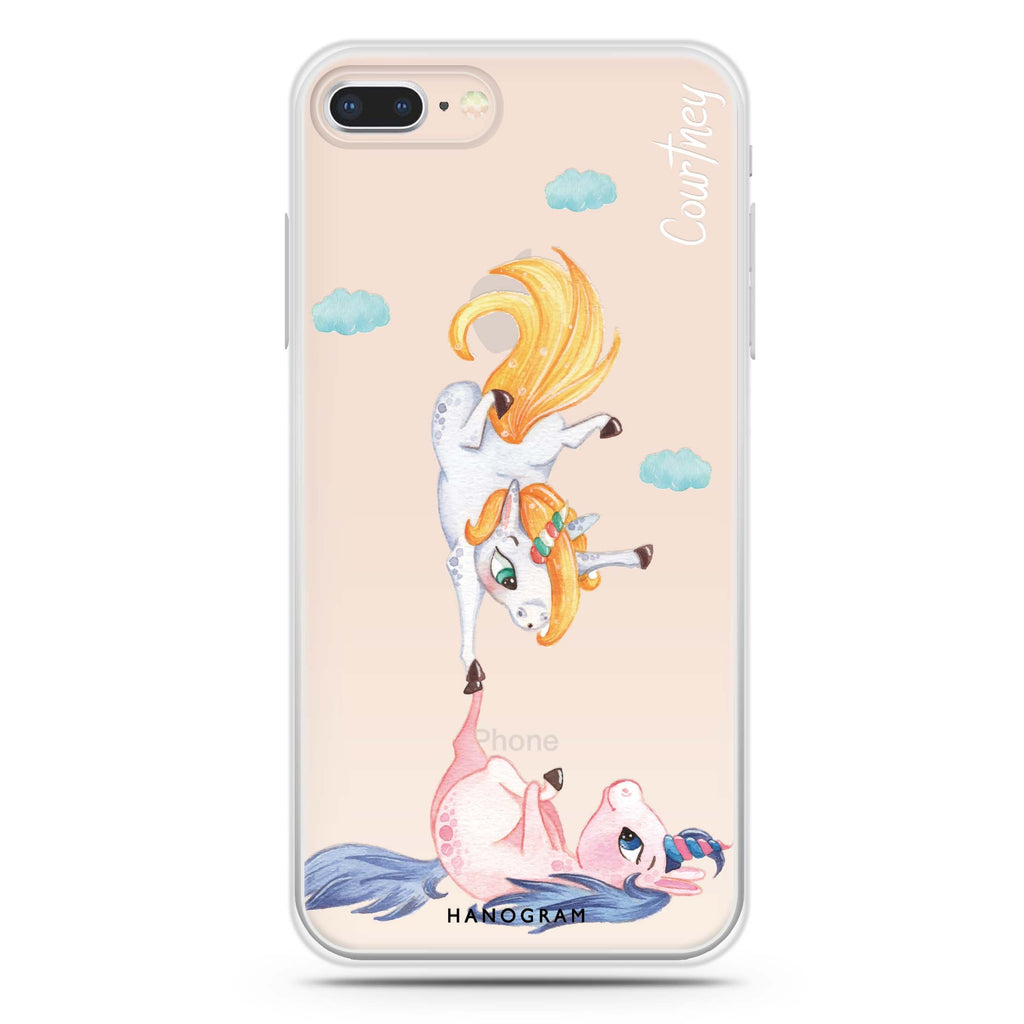 Rainbow Unicorn Dancing iPhone 7 Plus Soft Clear Case