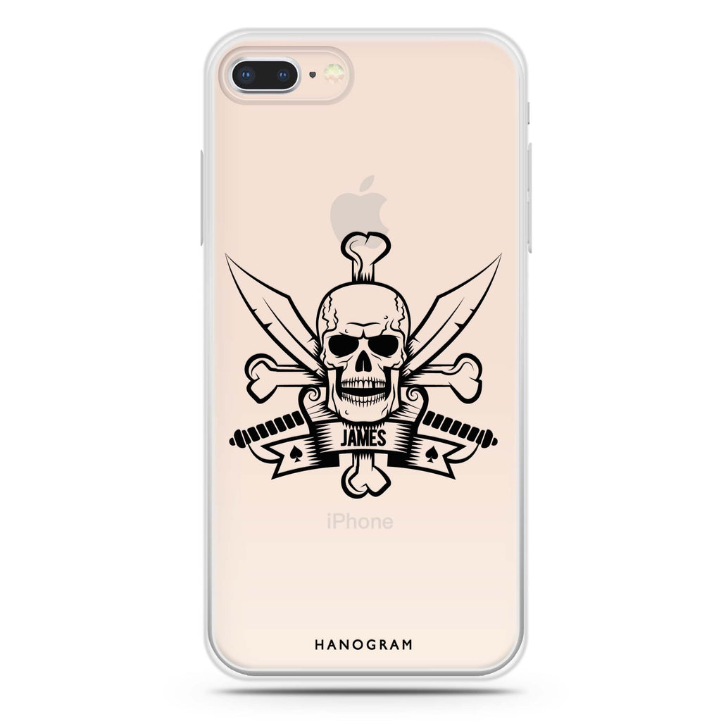 Skeleton iPhone 7 Plus Soft Clear Case