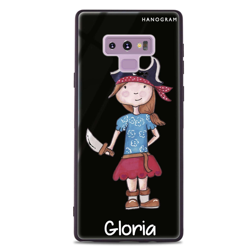 Little Pirate Girl Samsung Note 9 Glass Case