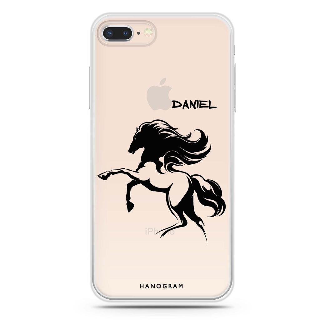 Jumping Horse iPhone 7 Plus Soft Clear Case