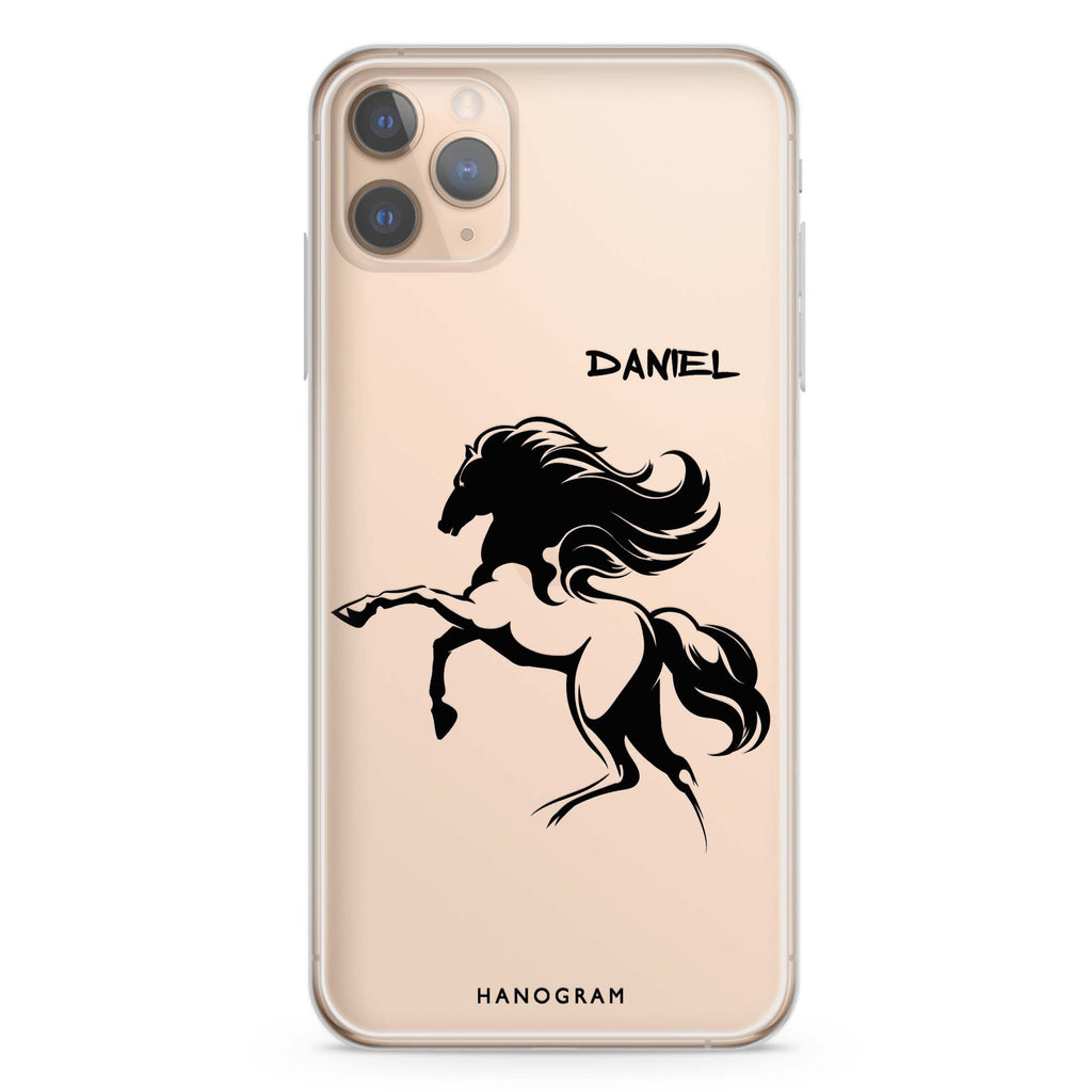 Jumping Horse iPhone 11 Pro Max Soft Clear Case