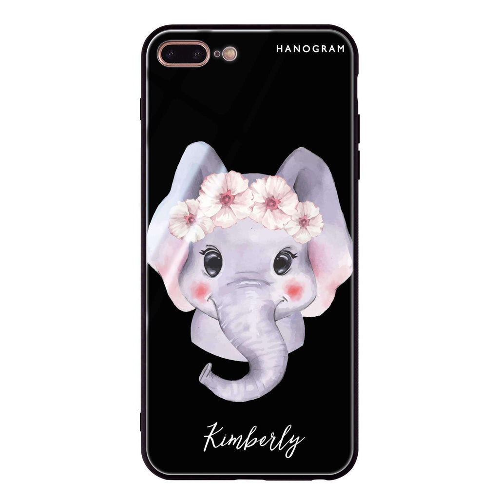 Baby Elephant iPhone 8 Plus Glass Case