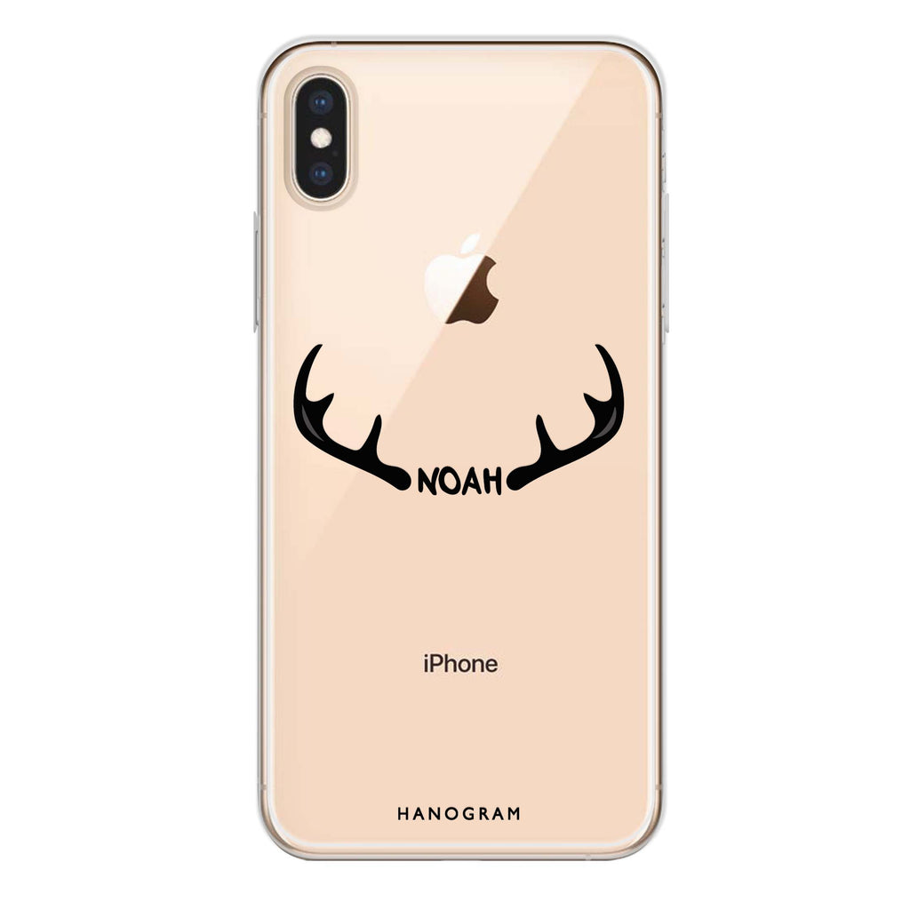 Antlers iPhone XS Max Soft Clear Case