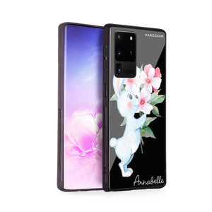 Rabbit And Flowers Samsung Glass Case