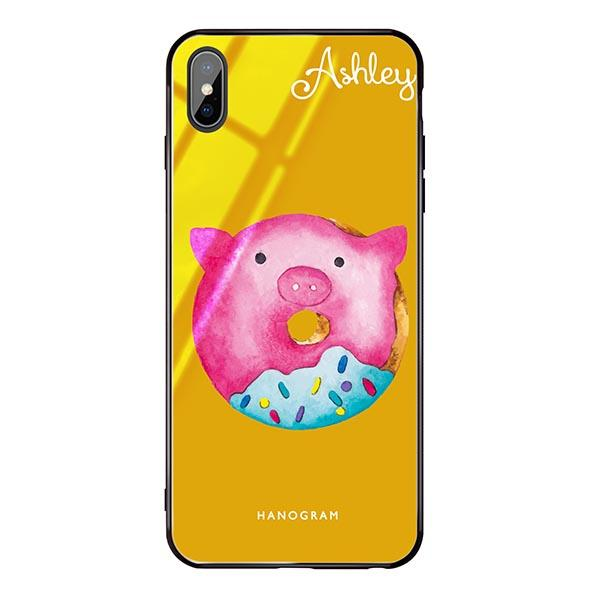 Sweet donut piggy Mango Mojito Glass Case
