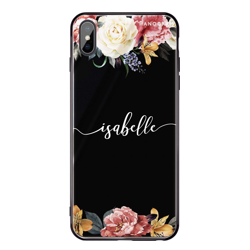 Art of Classic Floral iPhone XS Max Glass Case