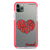 Red Word Heart Frosted Bumper Case