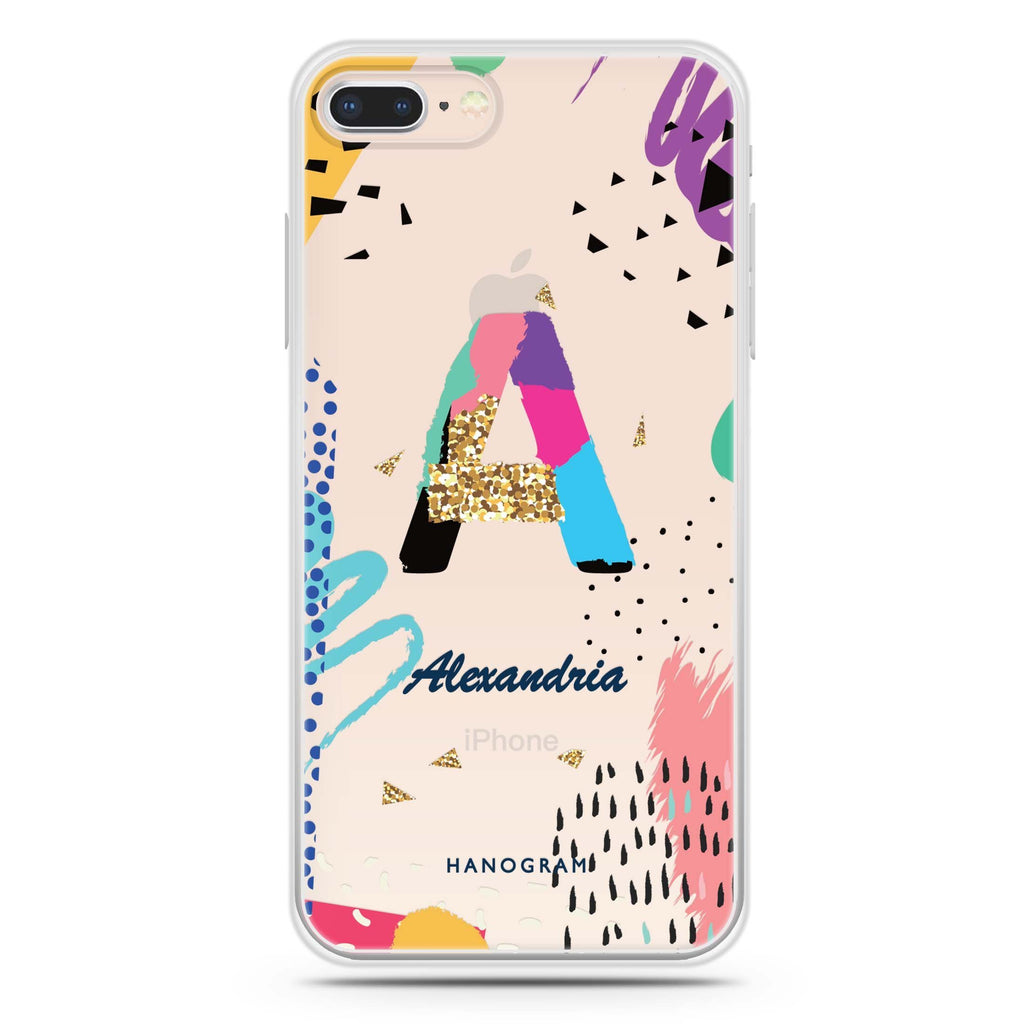 Artistic Monogram IV iPhone 8 Soft Clear Case