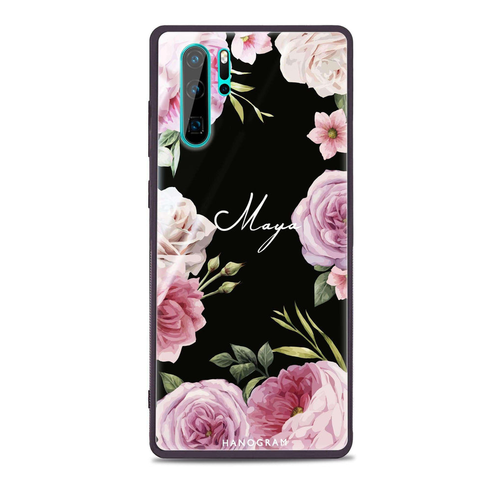 Beautiful Pretty Floral Huawei Glass Case