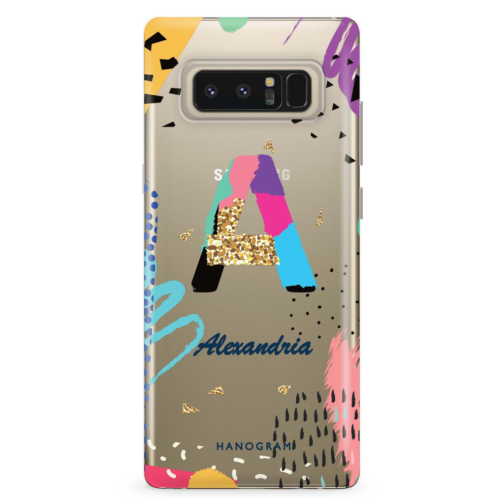 Artistic Monogram IV Samsung Note 8 Soft Clear Case