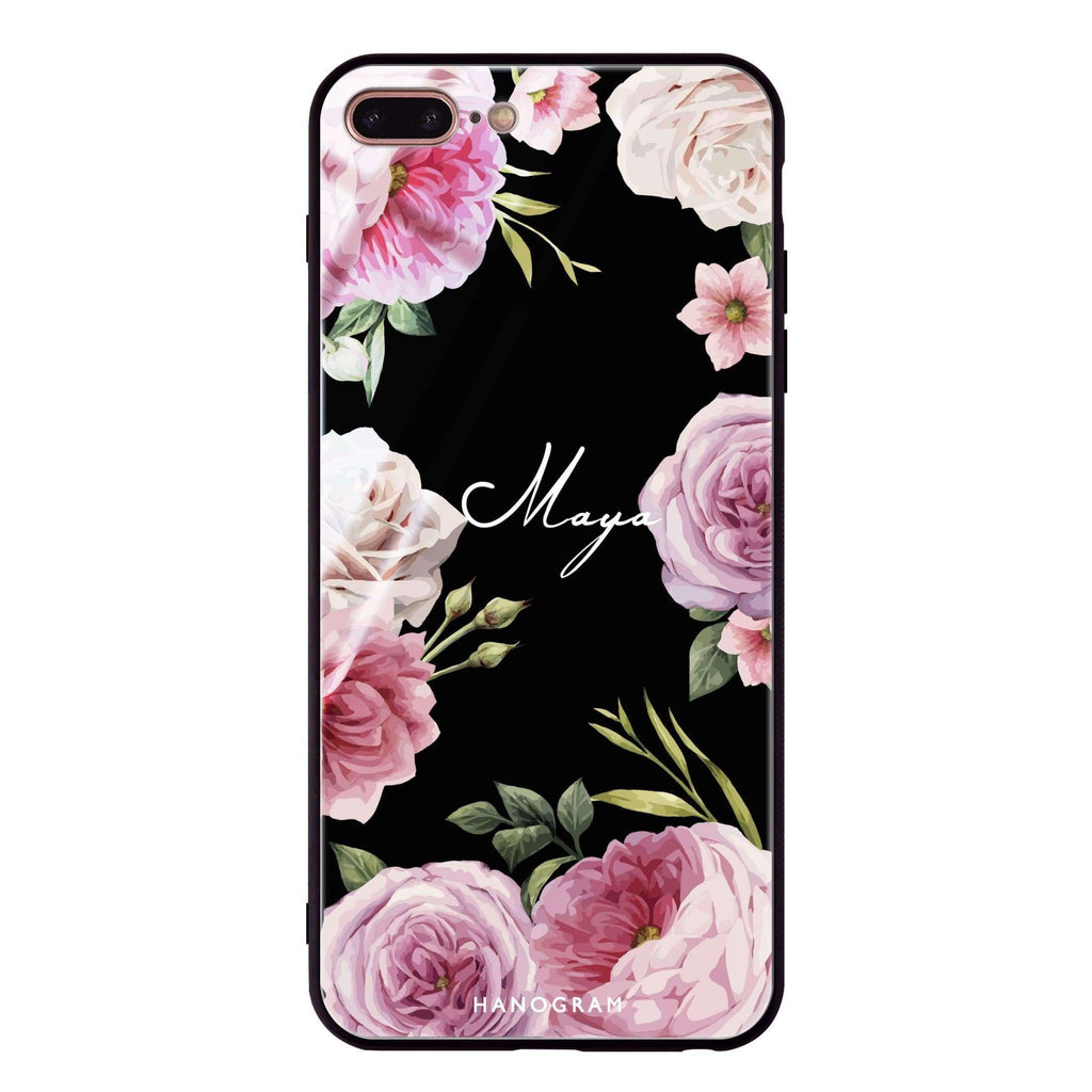 Beautiful Pretty Floral iPhone 8 Plus Glass Case