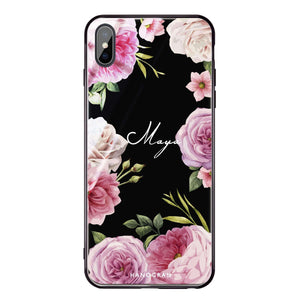 Beautiful Pretty Floral iPhone XS Max Glass Case
