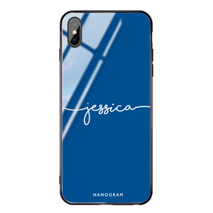 Handwritten Princess Blue Glass Case