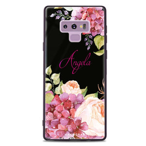 Pretty Floral Samsung Note 9 Glass Case