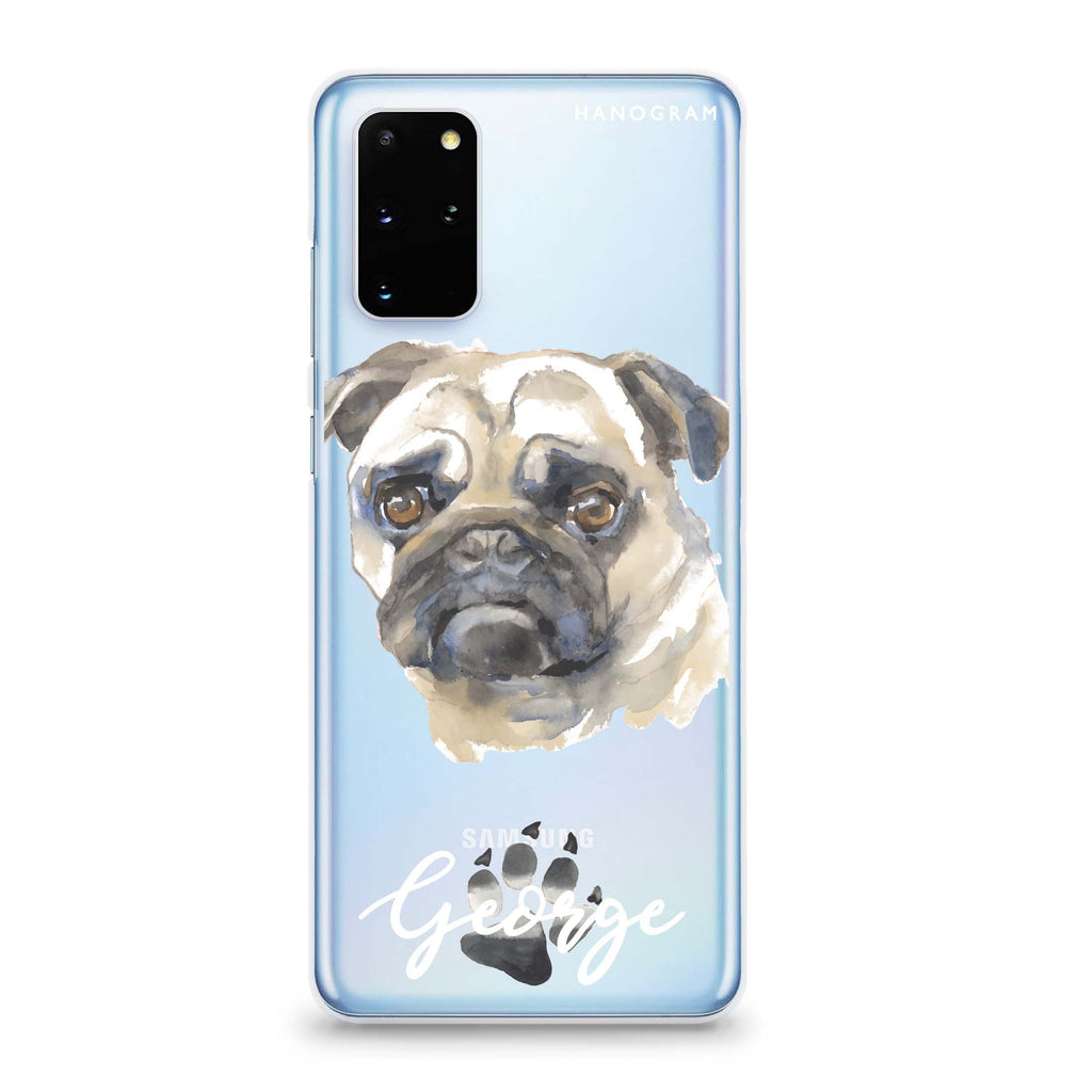 Pug Samsung S20 Soft Clear Case