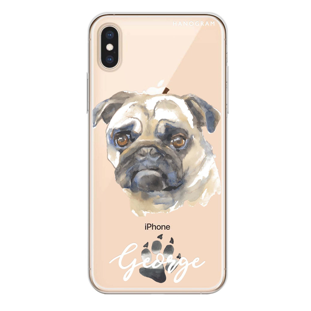 Pug iPhone XS Max Soft Clear Case