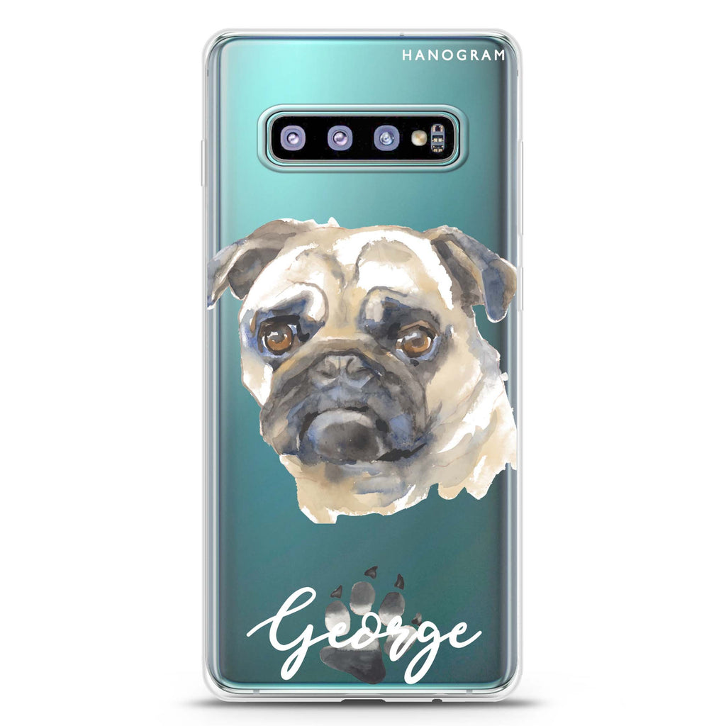 Pug Samsung S10 Plus Soft Clear Case