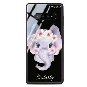 Baby Elephant Samsung S10 Plus Glass Case