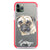 Pug Frosted Bumper Case