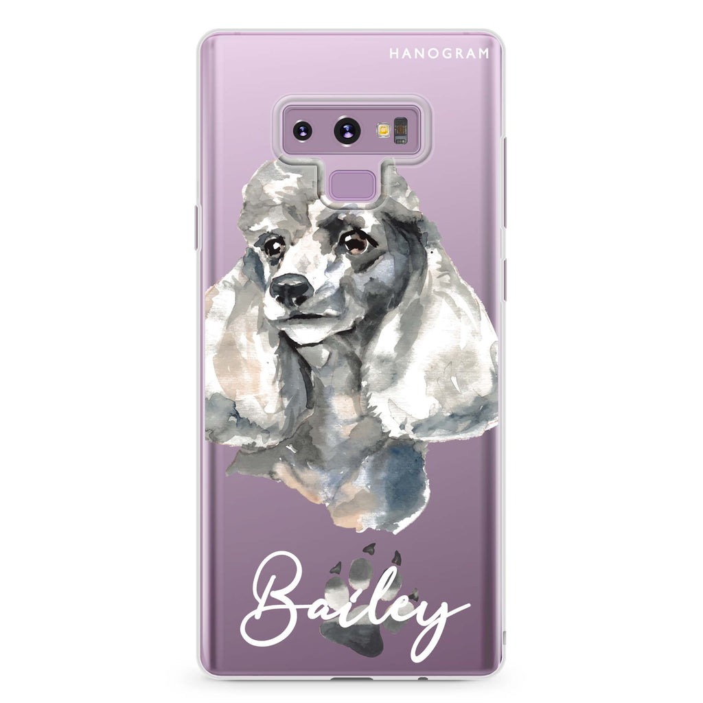 Poodle Samsung Note 9 Soft Clear Case