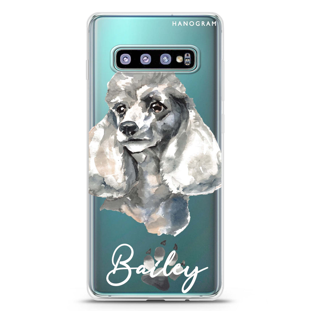 Poodle Samsung S10 Plus Soft Clear Case