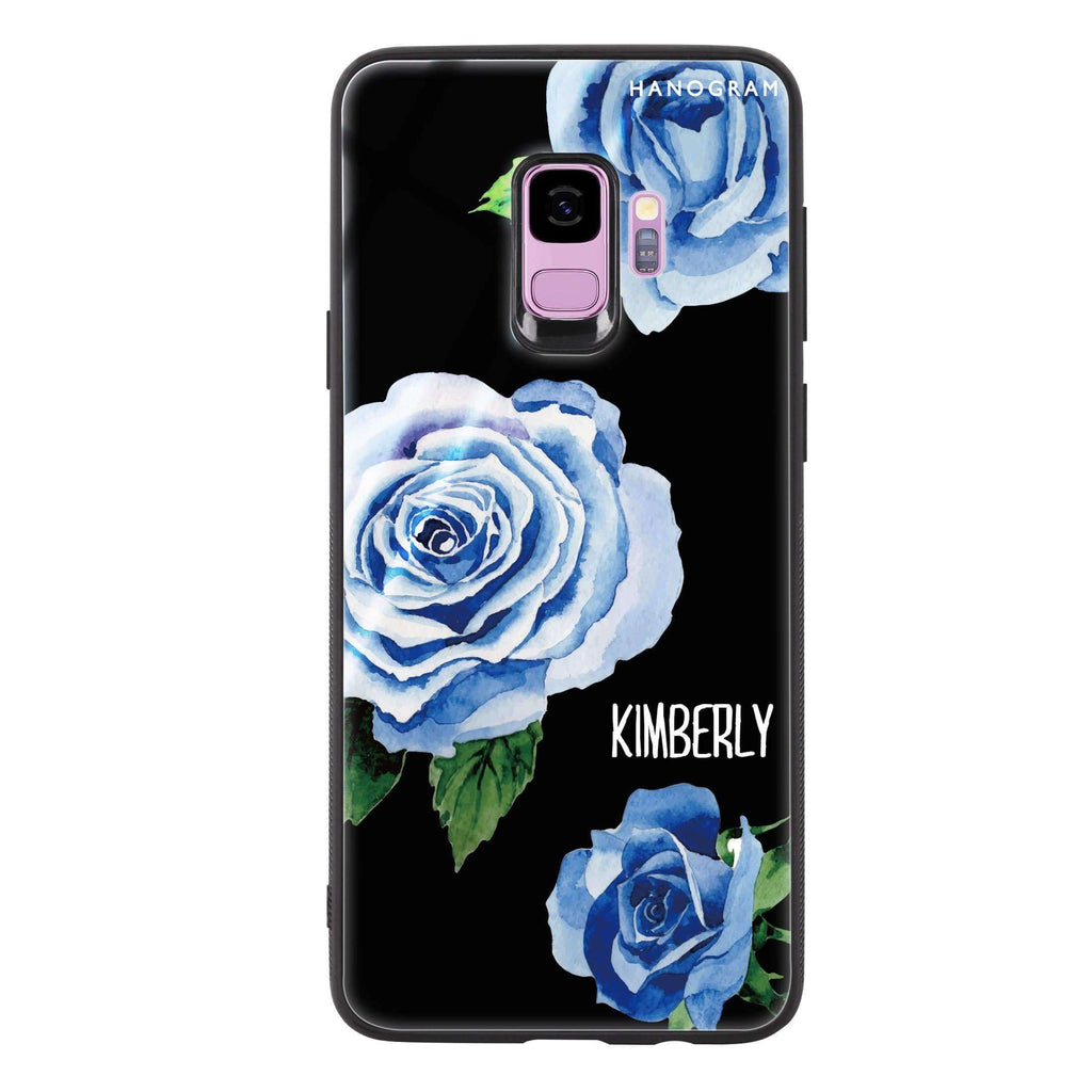 Blue Rose Samsung S9 Glass Case