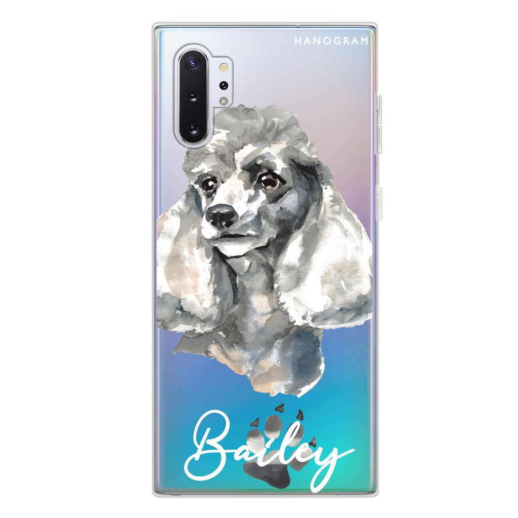 Poodle Samsung Note 10 Plus Soft Clear Case