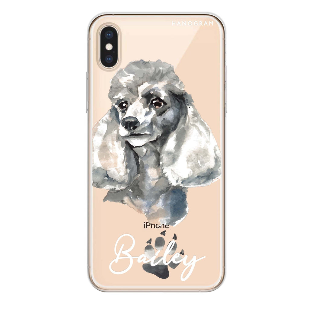 Poodle iPhone XS Soft Clear Case