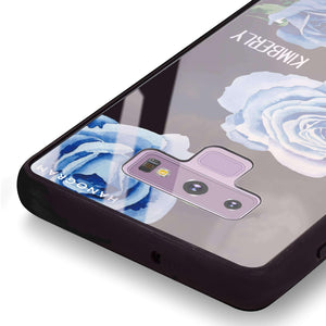 Blue Rose Samsung Note 9 Glass Case