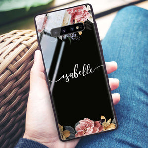 Art of Classic Floral Samsung S10 Plus Glass Case