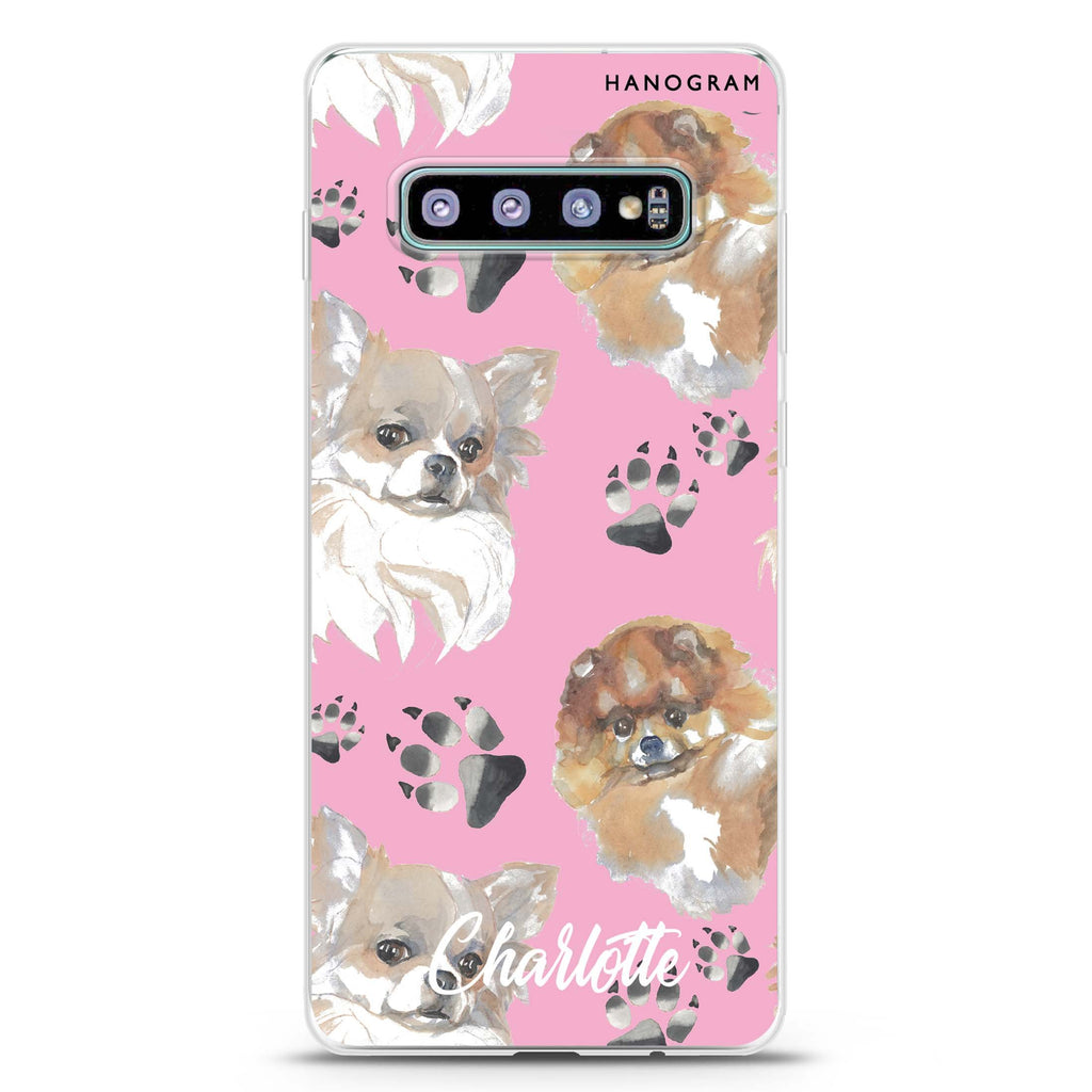 Pompom & Chihuahua Samsung S10 Plus Soft Clear Case