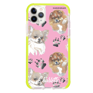 Pompom & Chihuahua Frosted Bumper Case