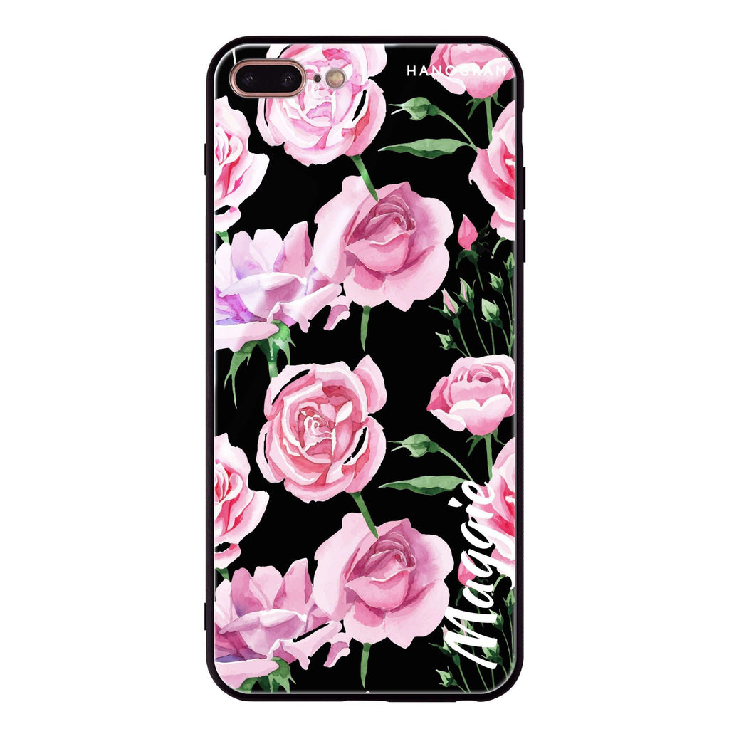 Pink Rose iPhone 8 Plus Glass Case