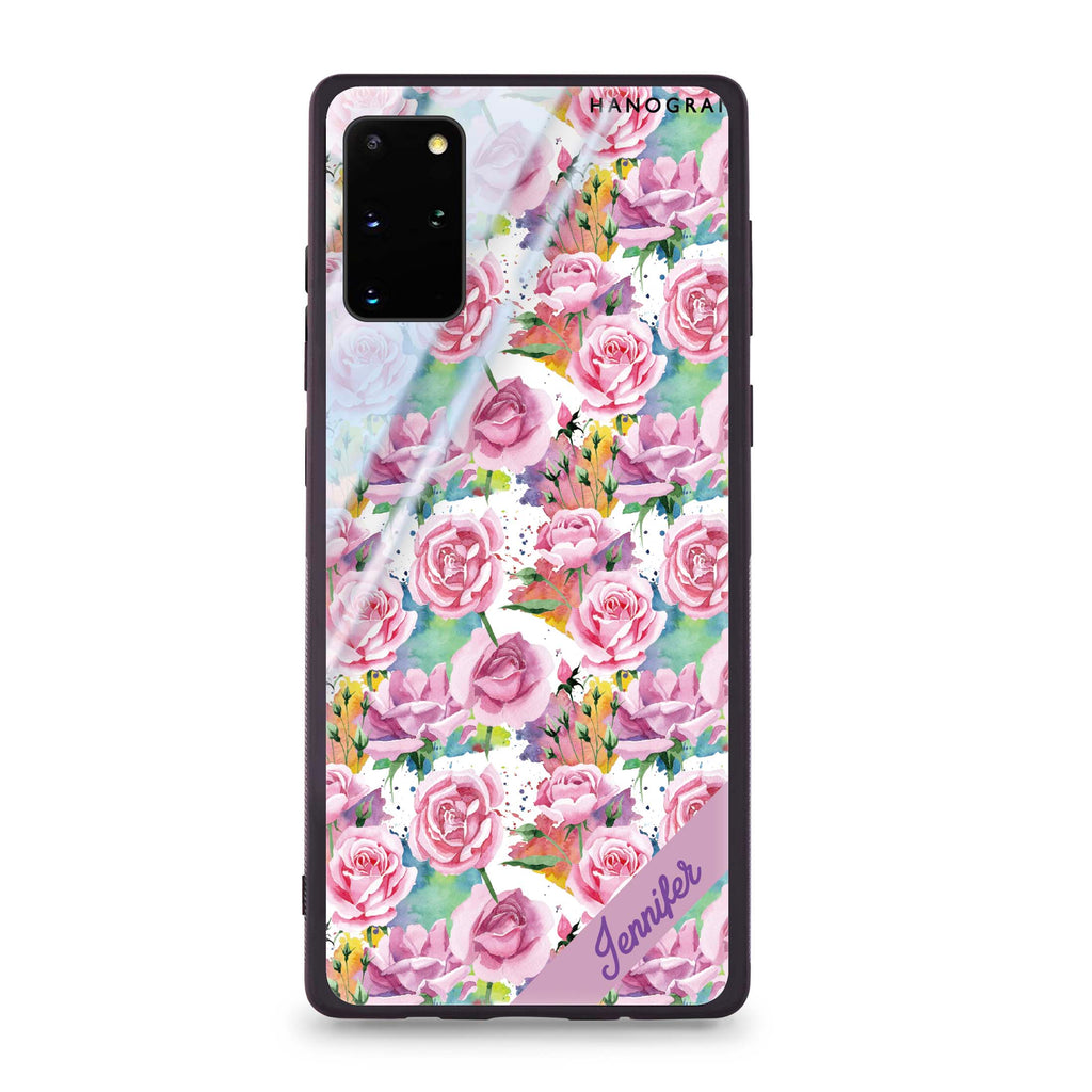 Colorful Rose Samsung S20 Plus Glass Case
