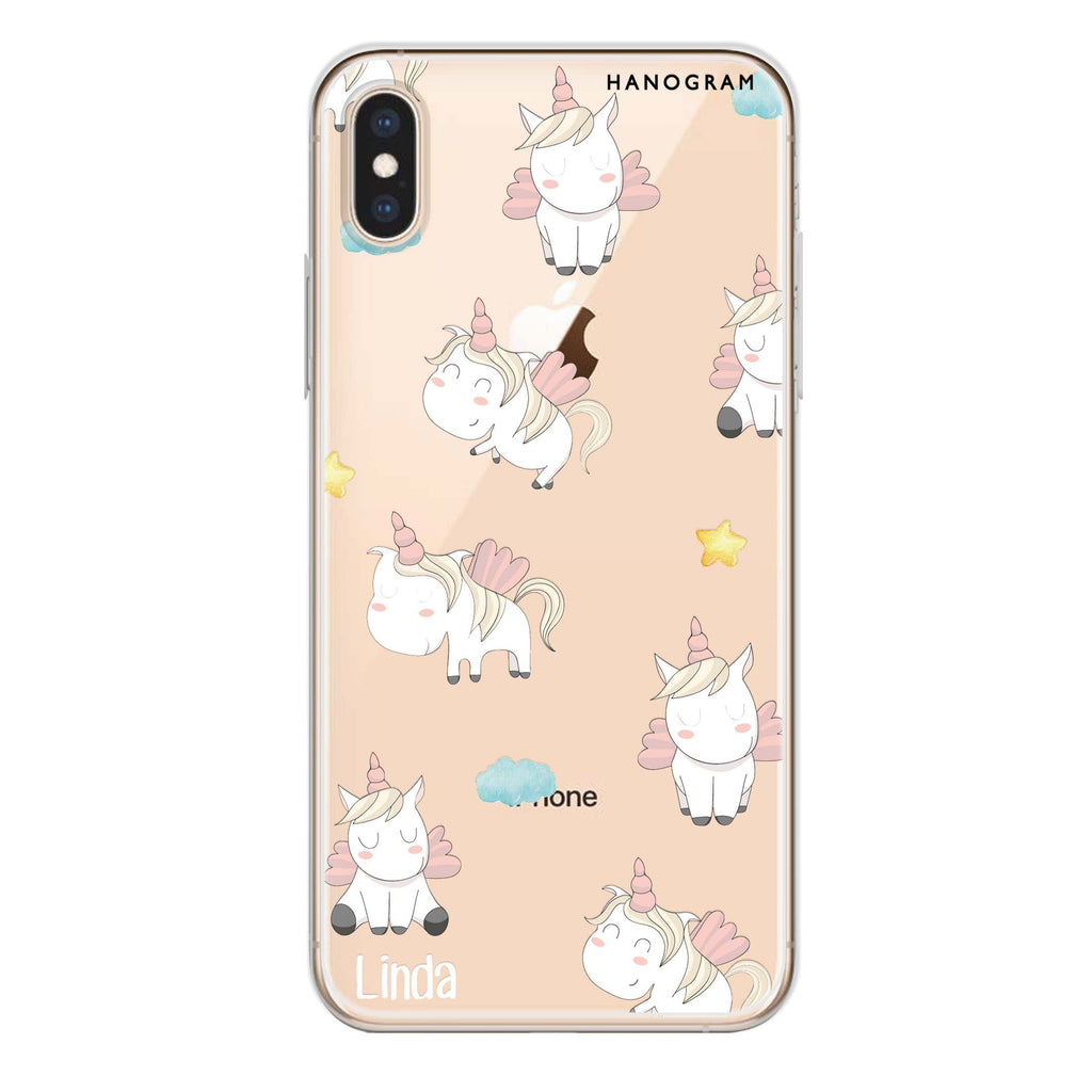Baby Cute Unicorn iPhone XS Soft Clear Case