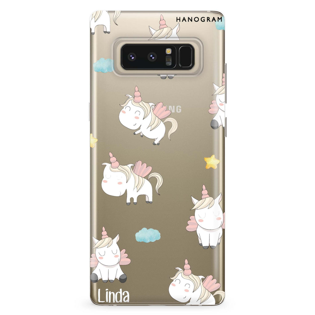 Baby Cute Unicorn Samsung Note 8 Soft Clear Case