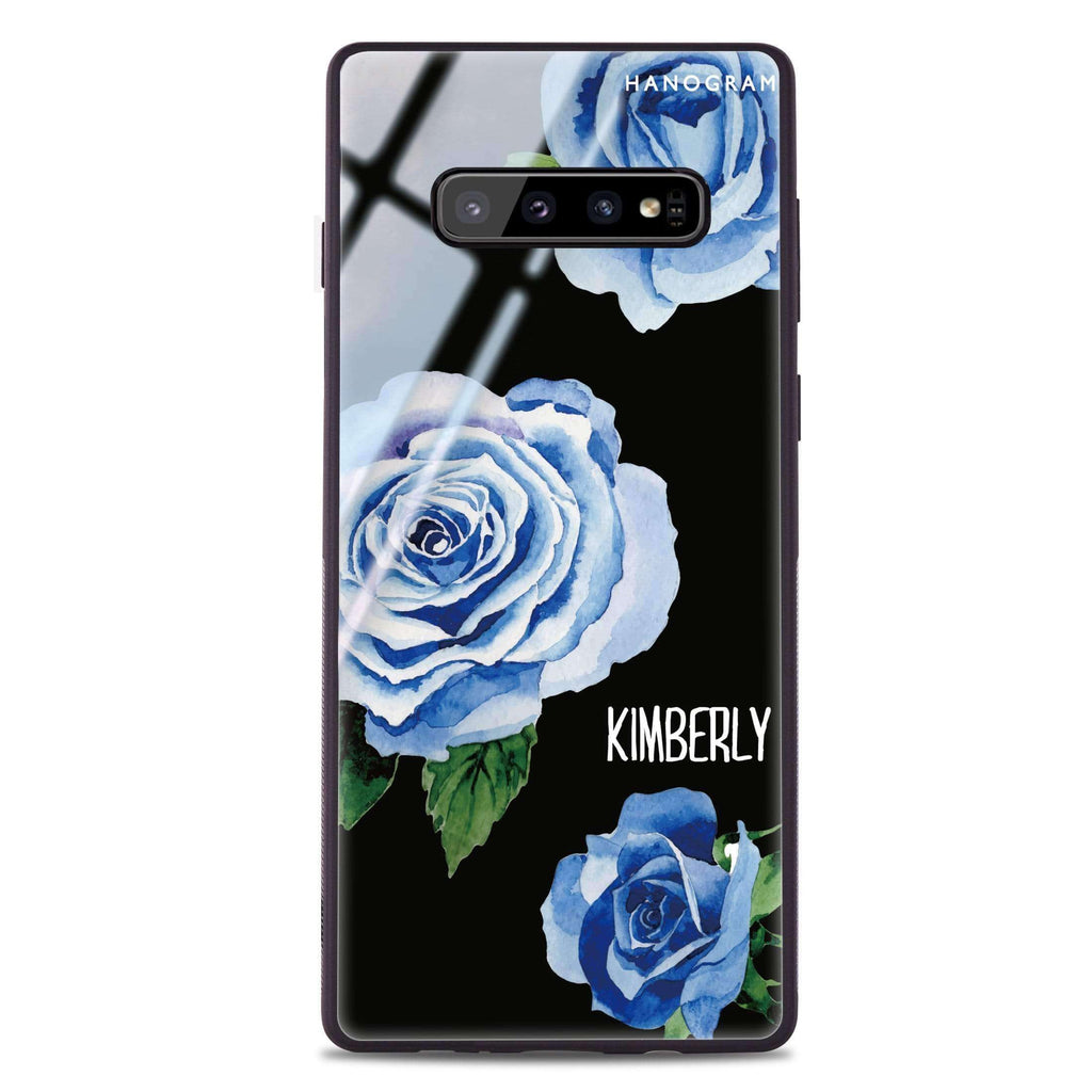 Blue Rose Samsung S10 Plus Glass Case