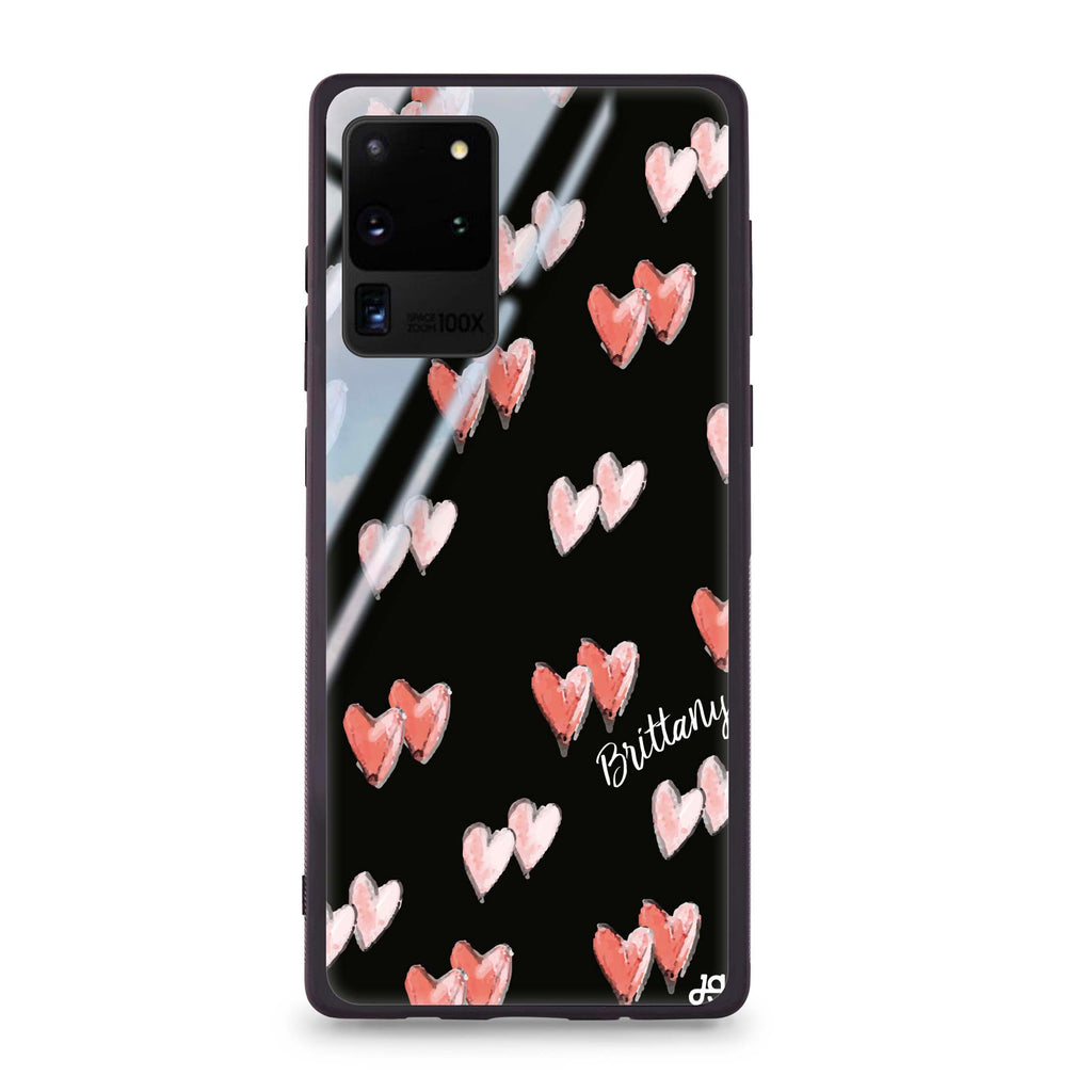 Double Heart Samsung S20 Ultra Glass Case