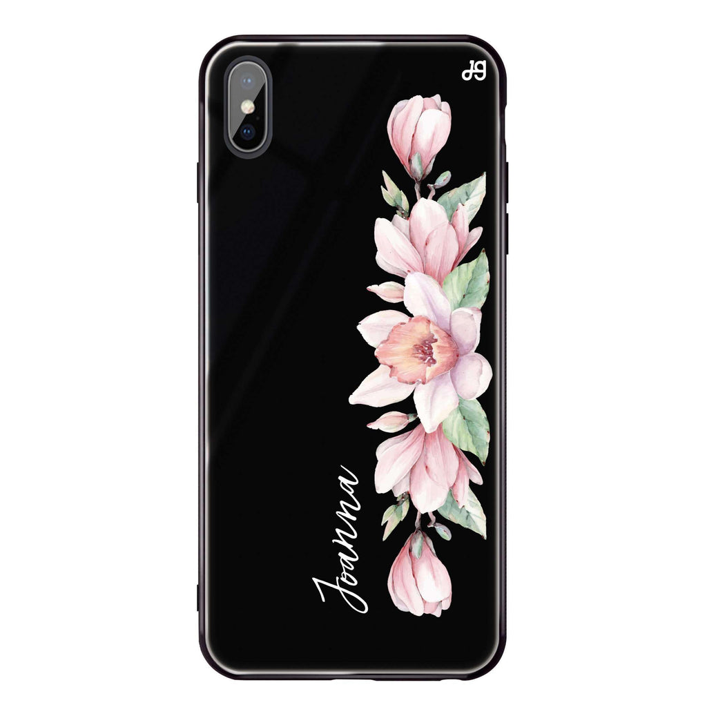 Floral and Me iPhone XS Max Glass Case