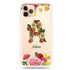 Bouqet Flower Monogram Frosted Bumper Case